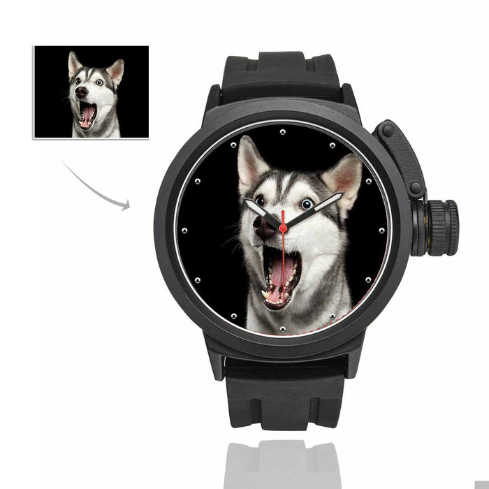 Custom Dog's Photo Men's Sport Watch