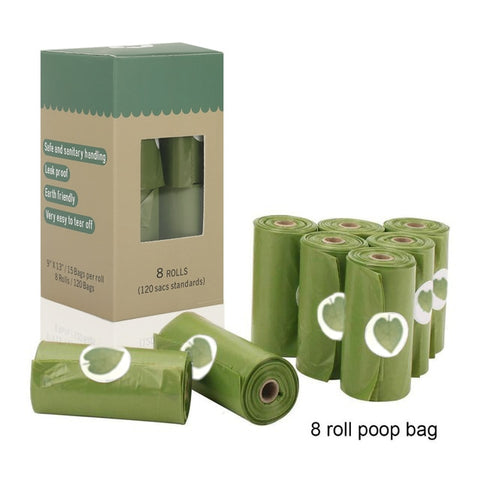 Biodegradable 8 Dog Poop Bags - Kuarela
