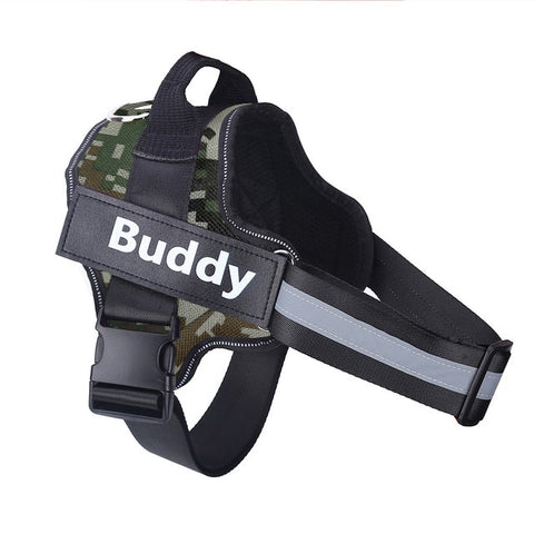 Personalized Camouflage Dog Harness Reflective - Kuarela