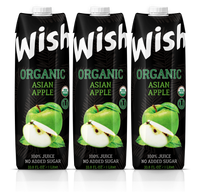 Organic Apple juice USDA. Pack of 3 x 33.8 Fl.Oz. No sugar added. Certified Organic. Kosher. Vegan. GMO-Free. Gluten-Free. Fully protected delivery.