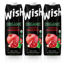 Organic Pomegranate juice USDA. Pack of 3 x 33.8 Fl.Oz. No sugar added. Certified Organic. Kosher. Vegan. GMO-Free. Gluten-Free. Fully protected delivery.