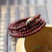 Natural Red Sandalwood Multilayer Buddha Bracelet - Yoga Bracelets & Malas