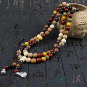 Sandalwood Buddhist Prayer Bead Mala Bracelet or Necklace - Yoga Bracelets & Malas
