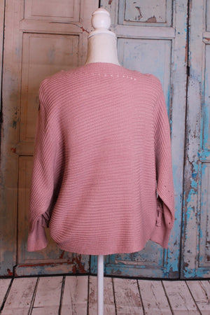 'In Ties' Pink Sweater