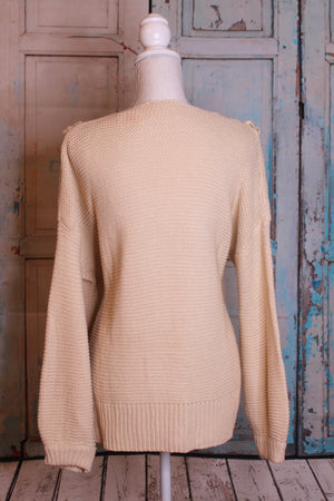 'Exes and Oh's' Tan Sweater