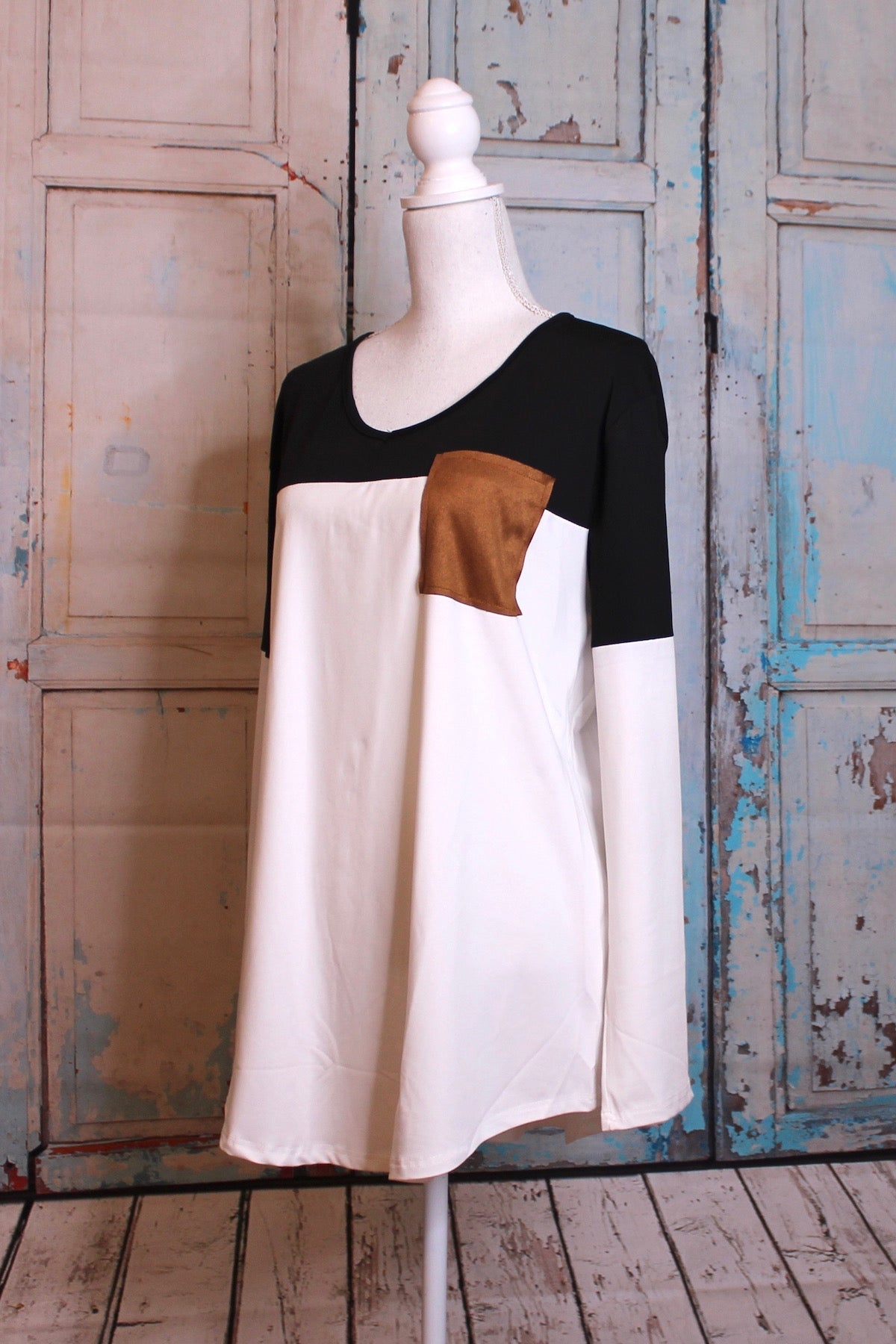 'Polly's Pocket' Color Block Long Sleeve Top