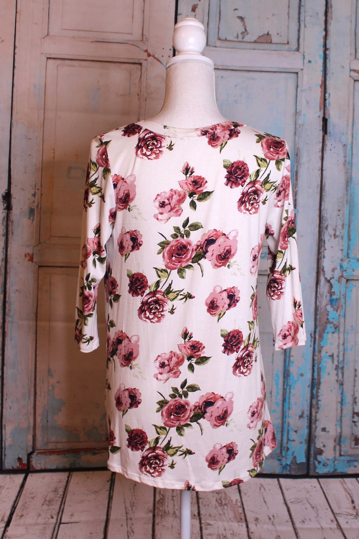 'Stop and Smell the Rosé' Knot Top