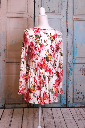 May Flowers Babydoll Tunic