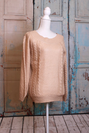 'Knit Me' Oatmeal Sweater