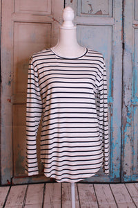 'The White Stripes' Long Sleeve Plus Size Top