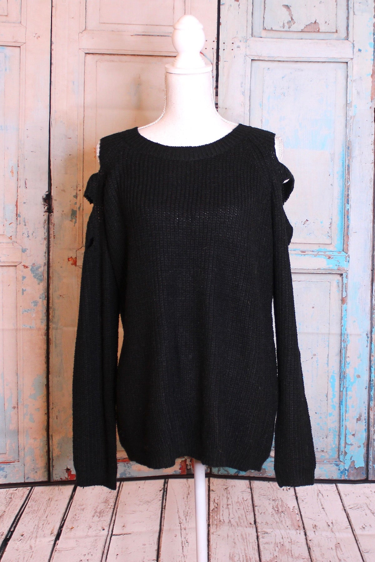 'Shoulder to Shoulder' Ink Black Sweater