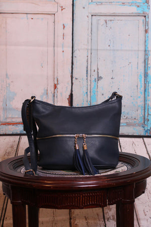 Navy Carriage Tote