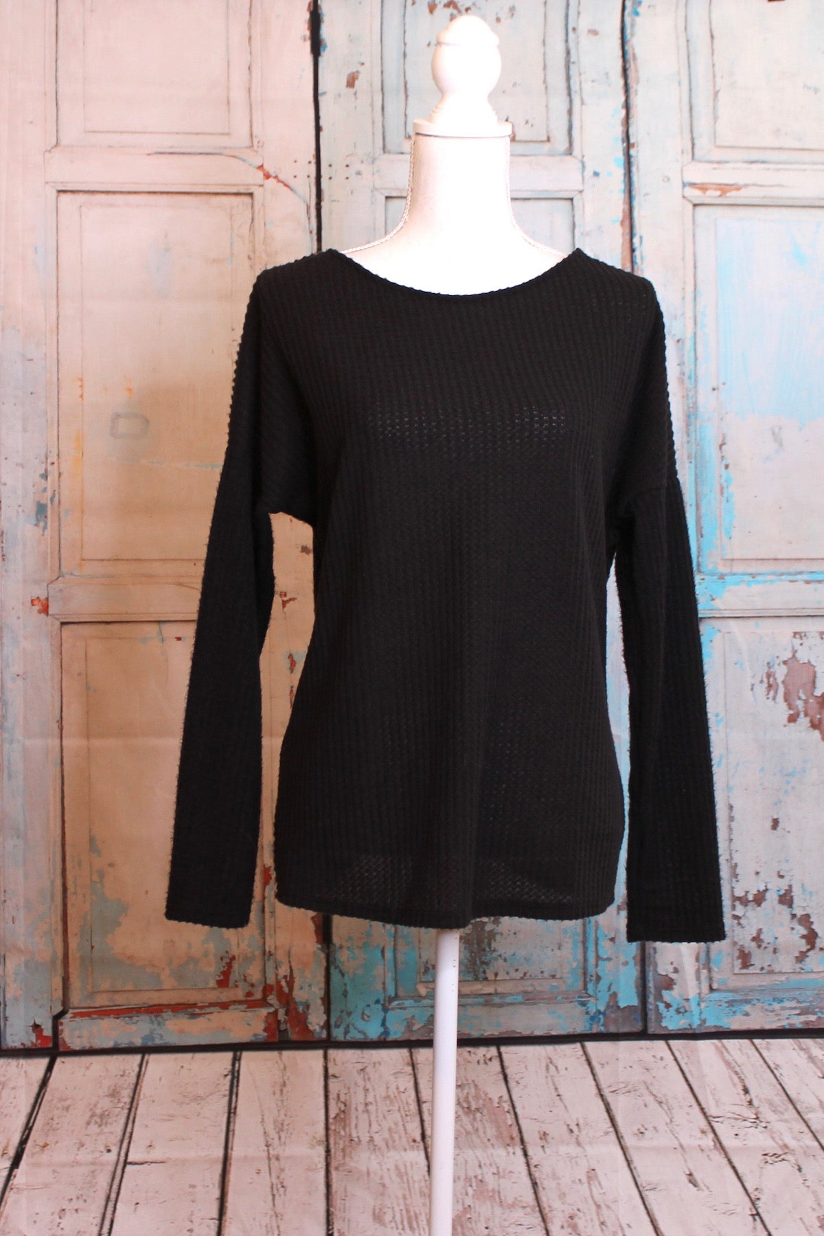 Black Widow Peekaboo Tie Back Sweater