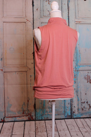 'Pure and Simple' Tank in Warmly Pink