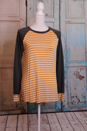 'True Stripes' Color Block Long Sleeve Top