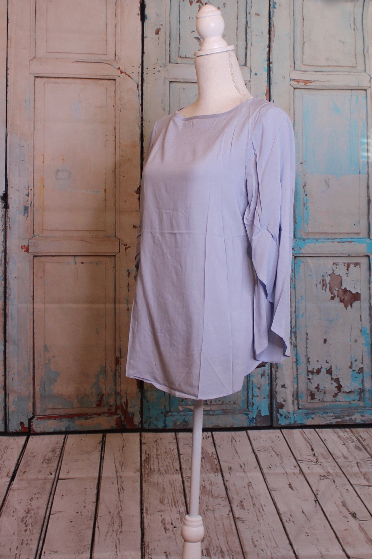 Tiered Powder Blue Blouse