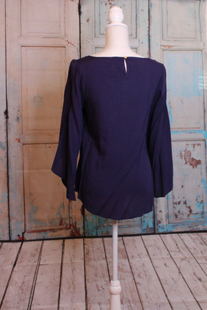 Tiered Navy Blouse