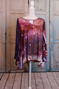 'Out of This World' Long Sleeve Top in Galaxy Pink