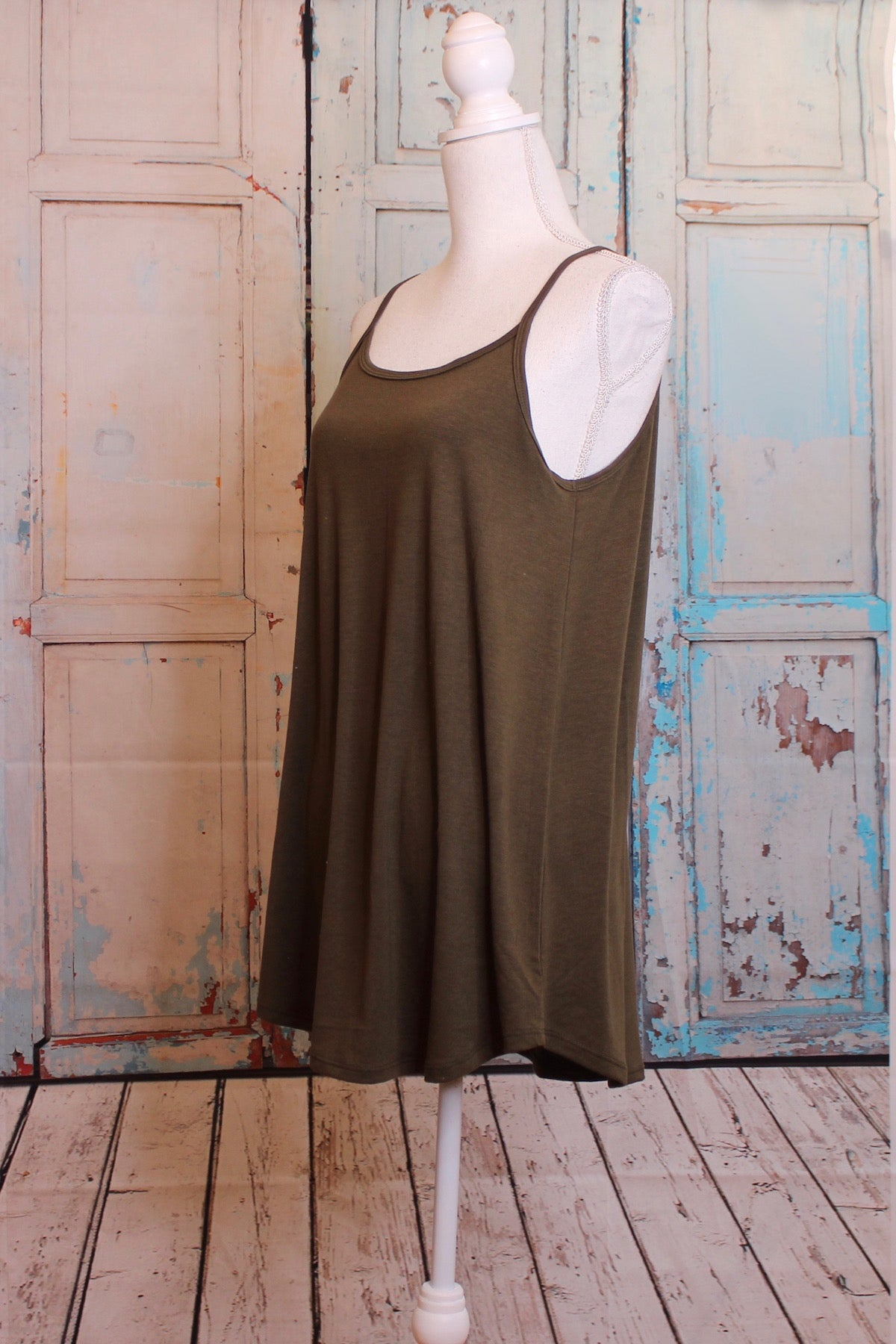 Reversible Tunic Dress in Green