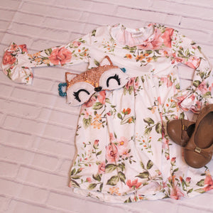 Kids 'May Flowers' Bell Sleeve Dress