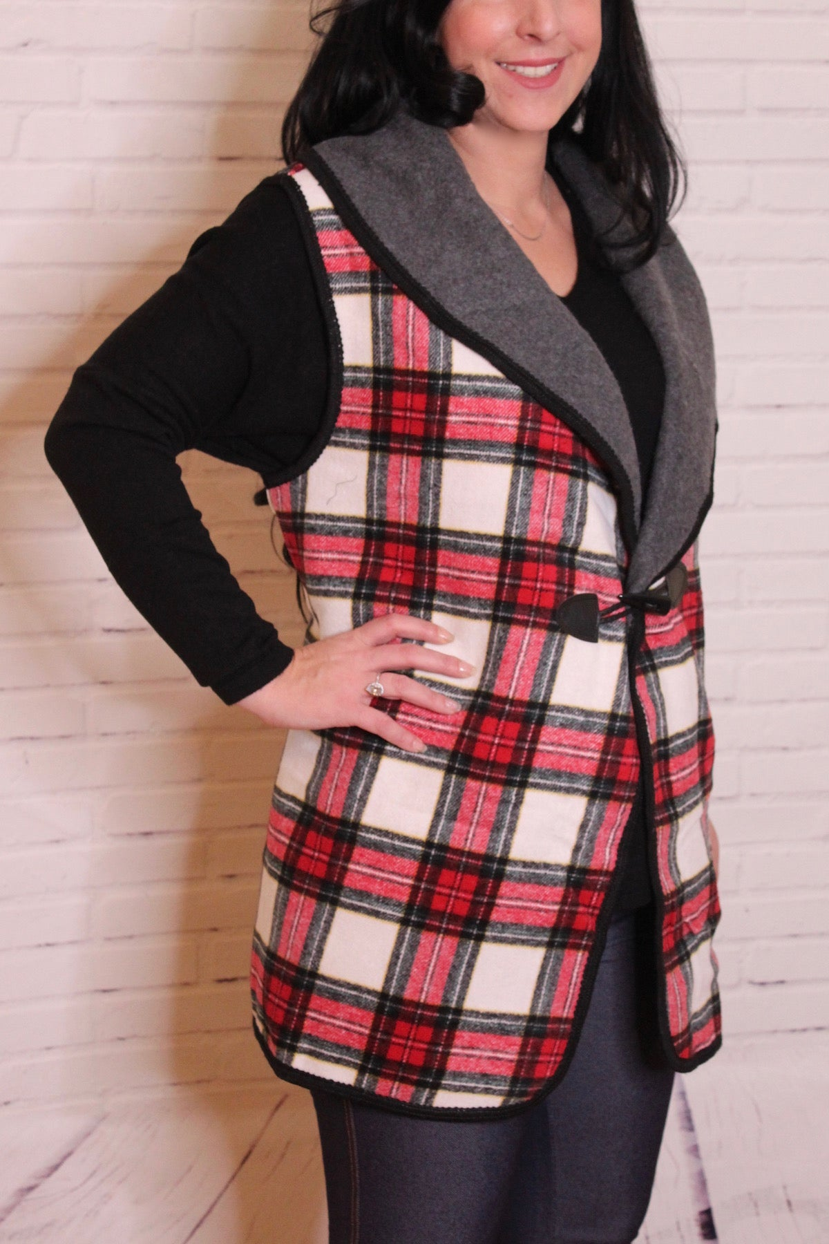 'Fall for Plaid' Vest