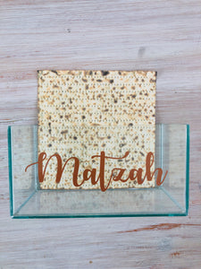 Glass Matzah Box (copper)