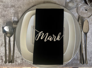 Table Name Settings Napkin Holder (Silver)
