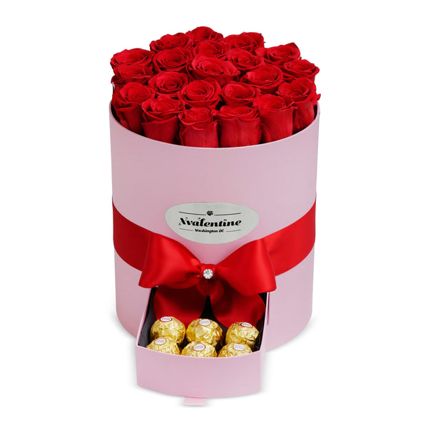 Grande Pink Box & Eternity Roses