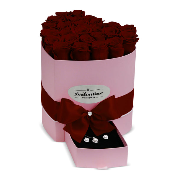 Love Pink Box & Wine Forever Roses