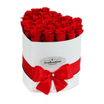 Love White Box & Red Forever Roses