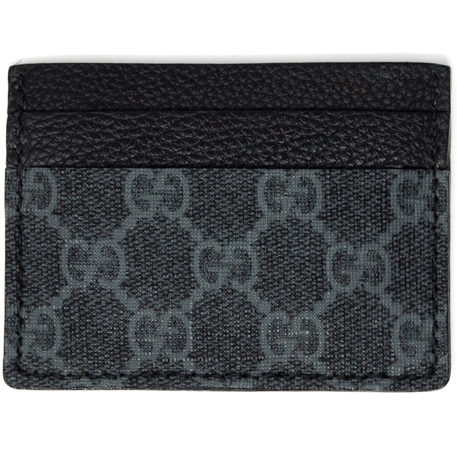 bc9801b96fea Load image into Gallery viewer, Gucci Repurposed Card Holder - Black and  Grey GG Supreme ...