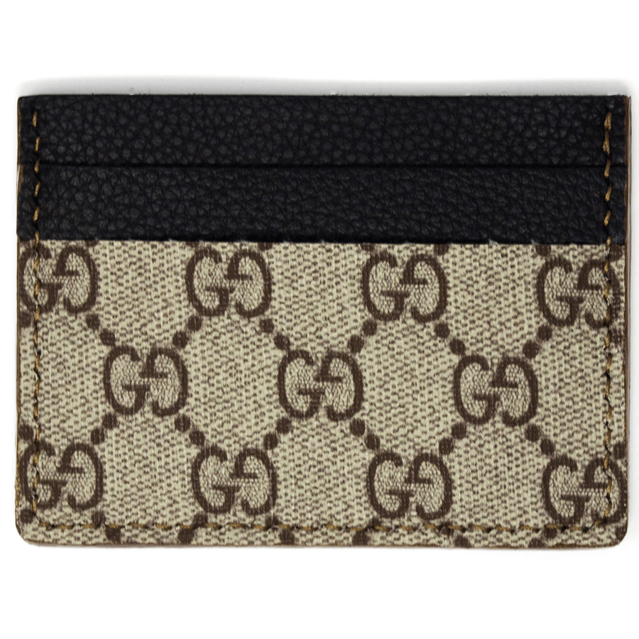 cc51dded61e4 Load image into Gallery viewer, Gucci Repurposed Card Holder - Beige/Ebony  GG Supreme ...