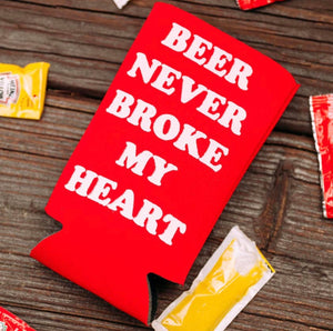 Beer Never Broke My Heart Drink Sleeve