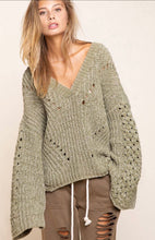 Load image into Gallery viewer, POL Dusty Olive Sweater