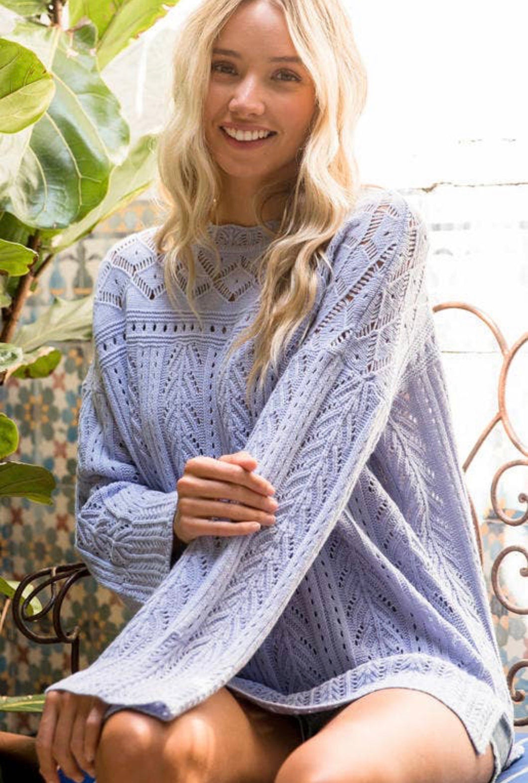 Blue Ice Sweater