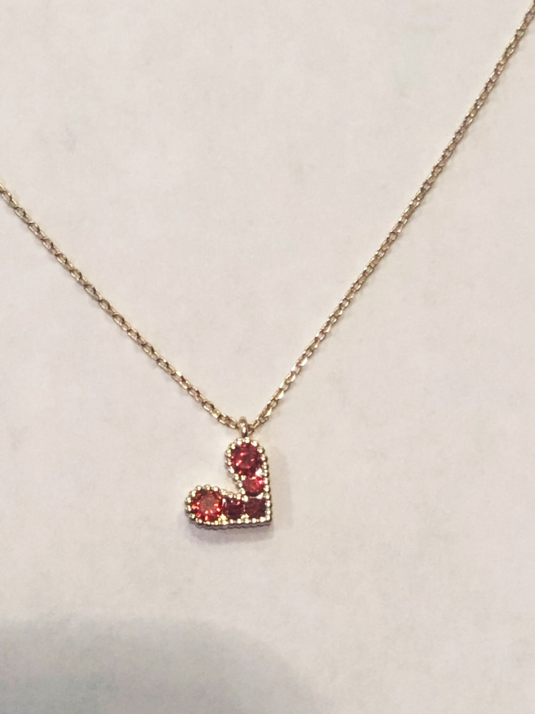 Dainty Heart Necklace!