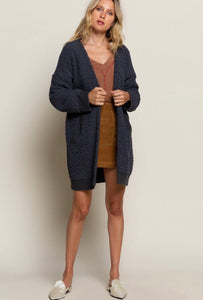 IN ROUTE / Charcoal Blanket Soft Cardigan!