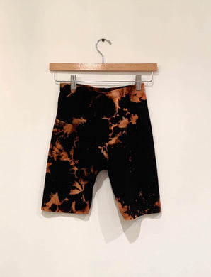 Tye Dye Black Biker Shorts