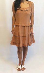 Burnt Orange Ruffle Dress!