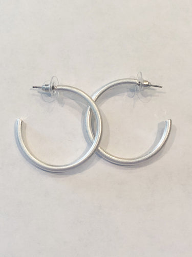 Brushed Silver Earrings!