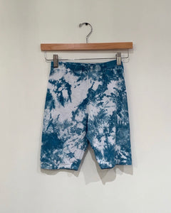 Blue Tye Dye Biker Shorts