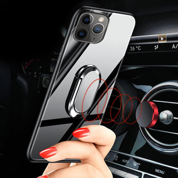 New Tempered Glass Cases for iPhone with Magnet Stand & Rope