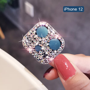 Luxury Rhinestone Camera Lens Protector Sticke For iPhone 12 Series