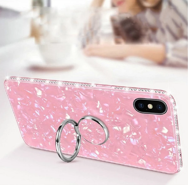 Bling Conch Shell Tempered Glasses Cases For iPhone