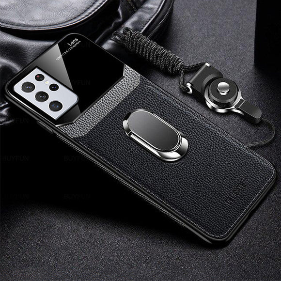 Shockproof PU Leather With Stand Case for Samsung Galaxy S21 Series(Buy 2 Get 10% Off, Buy 3 Get 15% Off)