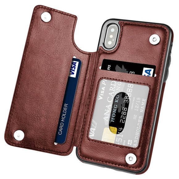 Luxury PU Leather Magnet Card Slot Case For iPhone(Buy 2 Get 10% OFF,Buy3 Get 15% OFF)