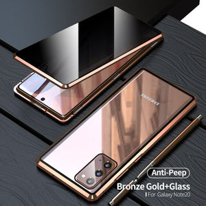 Anti Peeping Privacy Glass Metal Magnetic Case for Samsung Galaxy Note 20 Ultra(Buy 2 Get 10% Off, Buy 3 Get 15% Off)
