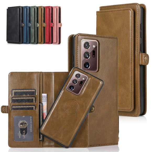 Detachable Magnetic PU Leather Wallet Case for Samsung Galaxy Note 20 Ultra