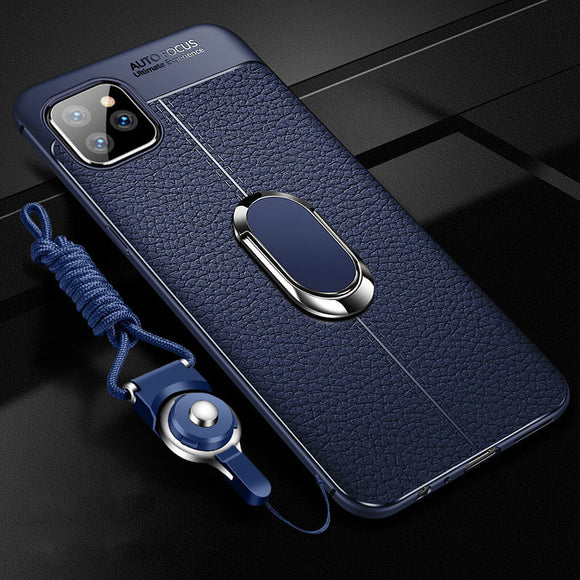 Luxury Leather Texture With Magnet Stand Cover for iPhone 12