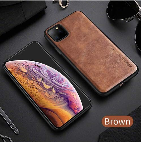 ZAZABEST Luxury Ultra Light Retro Leather Shockproof Cases for iPhone